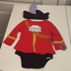 Disney Captain Hook Onesie and Hat Costume